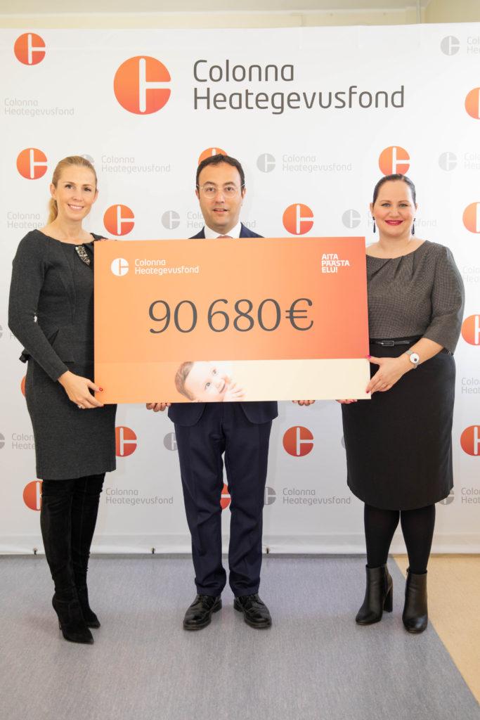 21ba2d762f3 Vastsündinute toetuseks koguti üle 90 000 euro - Keskhaigla Sünnitusmaja